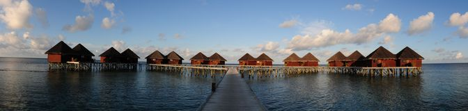 Mirihi Island Resort in the Indian Ocean on the Ma Royalty Free Stock Images