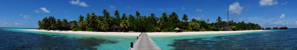 Mirihi Island Resort in the Indian Ocean on the Ma royalty free stock photo