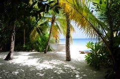 Mirihi is klein (app. 300m door 50m) eiland Royalty-vrije Stock Foto's