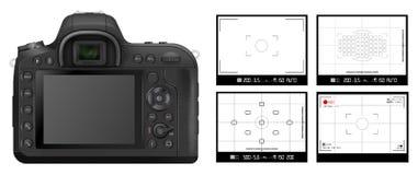 Mirino della macchina fotografica di DSLR royalty illustrazione gratis