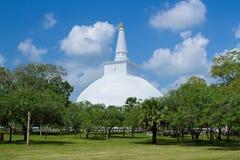 Mirisavatiya Dagoba Stupa,阿努拉德普勒,斯里兰卡 免版税库存照片