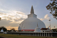 Mirisavatiya Dagoba Stupa, Anuradhapura, Σρι Λάνκα Στοκ Φωτογραφίες