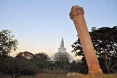 Mirisavatiya Dagoba Stupa, Anuradhapura, Σρι Λάνκα Στοκ Εικόνα