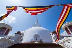 Mirisavatiya Dagoba Stupa, Anuradhapura, Шри-Ланка Стоковая Фотография RF