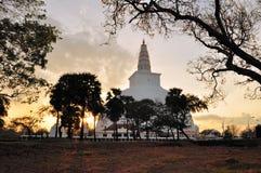 Mirisavatiya Dagoba Stupa, Anuradhapura, Sri Lanka immagine stock libera da diritti
