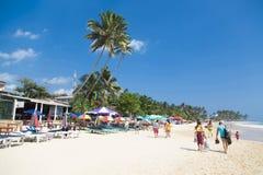 Mirissa海滩在斯里兰卡 免版税图库摄影