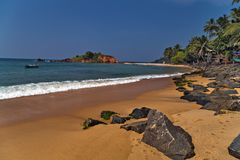 Mirissa beach, destinations. For a RELAXING holiday in Sri Lanka Royalty Free Stock Photo