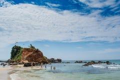 Mirissa plaży teren Zdjęcie Royalty Free
