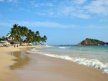Mirissa strand, Sri Lanka Arkivbilder