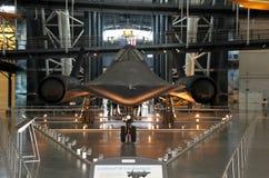 Mirlo/aire y museo espacial de Lockheed SR-71 Imágenes de archivo libres de regalías
