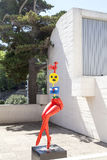 Miro sculpture on the terrace of the Foundation Joan Miro, Barcelona, Spain Royalty Free Stock Photography
