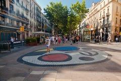 Miro Tile Mosaic Rambla Barcelona Royalty Free Stock Image