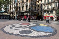 Miro Tile Mosaic Rambla Barcelona Stock Photography