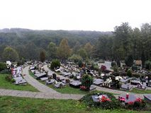 Mirogoj萨格勒布` s主要公墓,多雨秋天, 2 免版税图库摄影