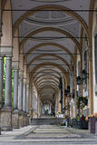 Mirogoj arcades. Arcades in Mirogoj cementery, the main cementery of Zagreb city built in 19th century by architect Hermann Bolle Stock Images