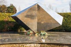 Mirogoj Cemetery Memorial. Zagreb, Croatia - December 30th 2018. A Yugoslavia era war memorial in a Mirogoj Cemetery in the Croatian capital Zagreb commemorating royalty free stock photos