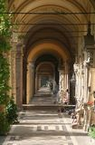 Mirogoj cemetery in Zagreb. Arcades Royalty Free Stock Photography