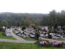 Mirogoj Zagreb ` s główny cmentarz, dżdżysta jesień, 2 Fotografia Royalty Free