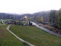 Mirogoj Zagreb ` s główny cmentarz, dżdżysta jesień, 3 Fotografia Royalty Free