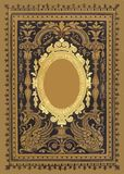 Miroir antique d'or de vintage Illustration Stock