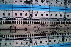 Miroir au pavillon italien à l'expo 2015 en Milan Italy Images stock