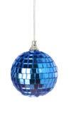 miroir bleu de Noël de bille Photographie stock libre de droits