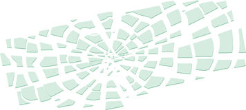 Miroir cassé illustration de vecteur