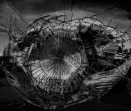 Miroir cassé dans des couleurs foncées Photo libre de droits