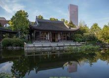 Miroir chinois du jardin de Porland Photographie stock libre de droits