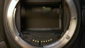 Miroir d'appareil-photo de DSLR banque de vidéos