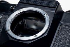 Miroir d'une matrice de la fin de caméra  photographie stock