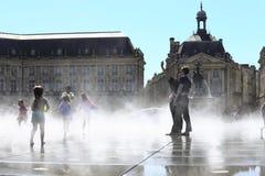 Miroir de l'eau en Bordeaux Image libre de droits