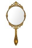 Miroir de main de vintage Images libres de droits