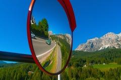 Miroir de route, Italie Photographie stock