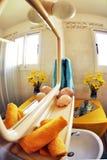 Miroir de salle de bains Photo libre de droits