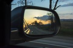 Miroir de voiture Photos libres de droits