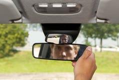 Miroir de vue arrière Images libres de droits