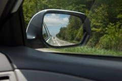 Miroir de vue arrière Images stock