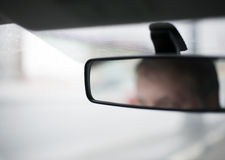 Miroir de vue arrière Photographie stock libre de droits