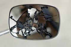 Miroir de vue arrière cassé Photo stock