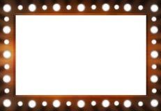 Miroir en bois de lumière d'arrière-scène de Brown avec le PS blanc Photos stock