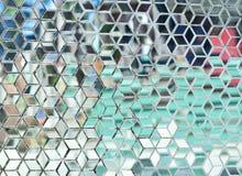 Miroir en verre souillé. Images stock