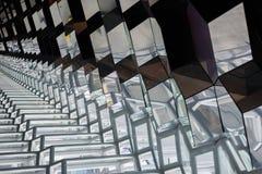 Miroir et lignes à l'intérieur de Harpa Reykjavik Photographie stock libre de droits