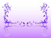 miroir floral Images libres de droits