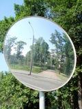 Miroir sphérique d'examen Images stock