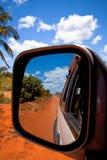 Miroir sur la route Photo stock