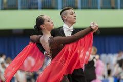 Mironchik Vladislav and Ermakova Olga Perform Youth-2 Standard Program Stock Images