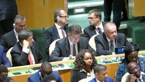 Miroslav Lajcak na assembleia geral de United Nations vídeos de arquivo