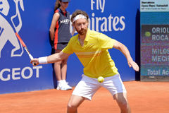Miroslav Mecir (tennis player from Slovakia) plays at the ATP Barcelona Open Banc Sabadell Conde de Godo tournament Royalty Free Stock Images