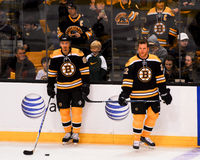 Miroslav Satan and Shawn Thornton, Boston Bruins Royalty Free Stock Photos